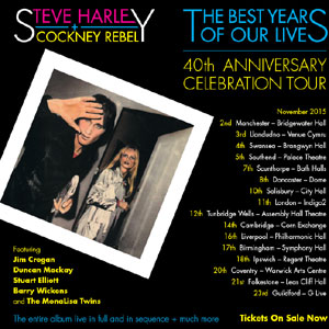 Steve Harley is embarking on a 40th anniversary tour